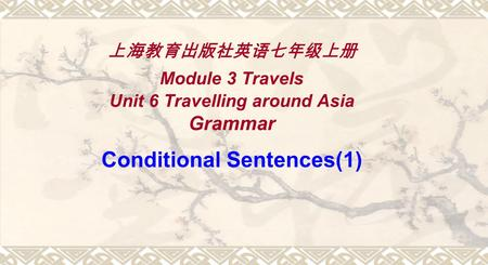 上海教育出版社英语七年级上册 Module 3 Travels Unit 6 Travelling around Asia Grammar Conditional Sentences(1)