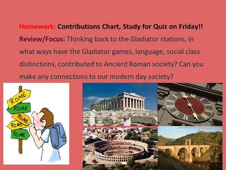 Gladiators homework help