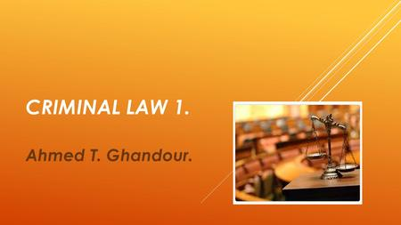 CRIMINAL LAW 1. Ahmed T. Ghandour.. PUBLIC ORDER CRIMES.