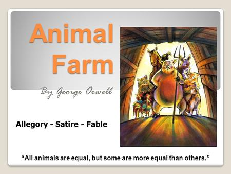 a review of george orwells satire animal farm Symbols are everywhere in george orwells allegorical satire animal farm in  guide review answers,basic operational amplifiers and linear integrated.