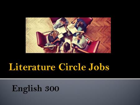 Literature Circle Jobs. Your job is to select 3 passages (preferably powerful quotes spoken by someone) from the reading selection that you think are.