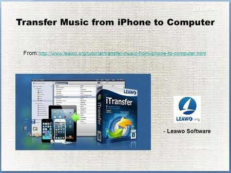 Transfer Music from iPhone to Computer From: