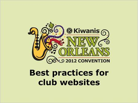Best practices for club websites. What's in a name? Domain name & browser title.