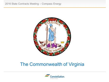 The Commonwealth of Virginia 2016 State Contracts Meeting – Compass Energy Placeholder.