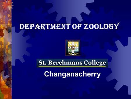 DEPARTMENT OF ZOOLOGY Changanacherry. Open Course offered by the Department of Zoology <strong>HUMAN</strong> GENETICS, <strong>NUTRITION</strong>, COMMUNITY HEALTH AND SANITATION.