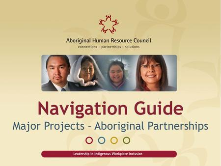 Navigation Guide Major Projects – Aboriginal Partnerships.