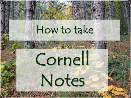 How to take Cornell Notes. Cornell notes will help you take organized notes that will help you study and learn!