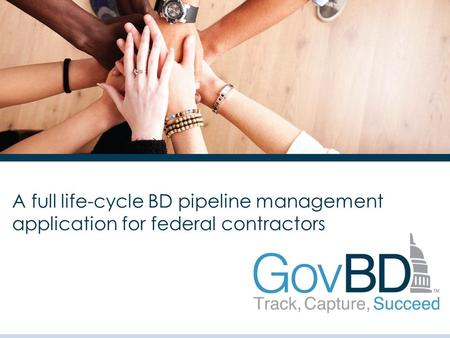 A full life-cycle BD pipeline management application for federal contractors.