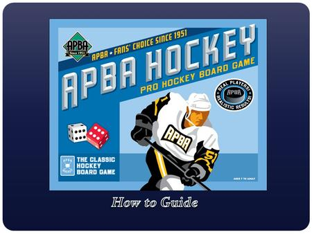 The APBA Game Co. has many current and past seasons to choose from. Additionally, there is an Olympic Hockey set and three All-Time Great Teams sets.