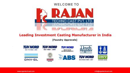 Leading Investment Casting Manufacturer in India