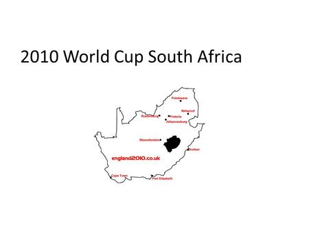 2010 World Cup South Africa. One question in everyone's mouth right now, my guess would be: How does a soccer world cup relate to sustainable technology?