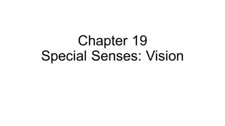 Chapter 19 Special Senses: Vision. Fig. 19.9 Structures that prevent foreign objects from entering eye: eyebrows eyelashes (length ideally 1/3 width of.