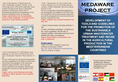 5 Project funded by the Euro- Mediterranean Regional Programme for Local Water Management of the European Union DEVELOPMENT OF TOOLS AND GUIDELINES FOR.