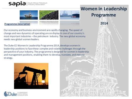 Programme Description Our economy and business environment are rapidly changing. The speed of change and new dynamics of operating are on display in one.