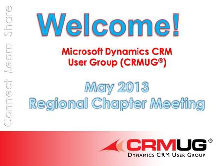 @CRMUG Presentation CRM/SharePoint Integration Presented by Bob Lam, Solutions Specialist Learn the why and how for each of the following situations -
