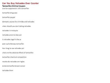 Nolvadex Canada Domestic
