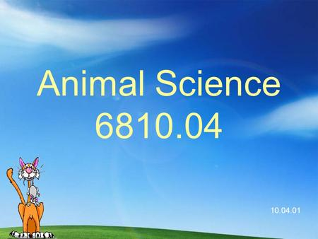 Animal Science 6810.04 10.04.01 A. Major Animal Science Industries.