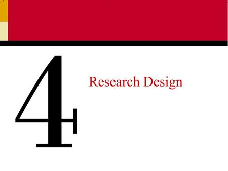 Research Design 4. Ch 52 Research Design Research design is a set of advanced decisions that make up the master plan specifying the methods and procedures.