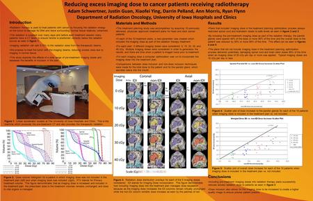 Reducing excess imaging dose to cancer patients receiving radiotherapy Adam Schwertner, Justin Guan, Xiaofei Ying, Darrin Pelland, Ann Morris, Ryan Flynn.