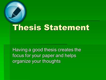 Thesis statement for night essay