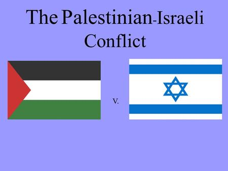 The Palestinian - Israeli Conflict V.. Terms to know related to the Palestinian conflict… PALESTINEISRAEL Muslims (Arabs) Hamas (radical organization.