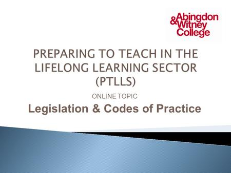 ptlls 6302 unit 002 The level 3 award in education & training course is aimed at those 7+ years' full-time experience of delivering teacher training qualifications like the ptlls.