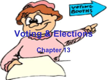 Voting & Elections Chapter 13. Voting & Elections Introduction The 2000 election was truly historic. –One candidate won the popular vote and the other.