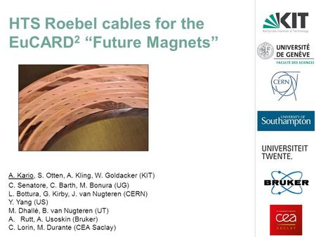 "HTS Roebel cables for the EuCARD2 ""Future Magnets"""
