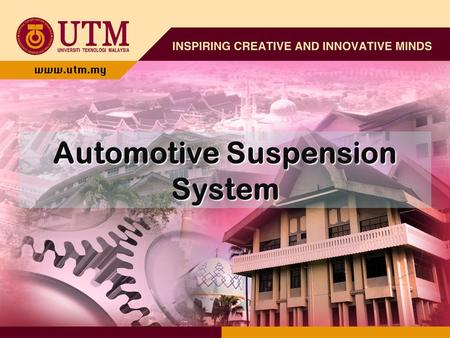 Automotive Suspension System. Suspension The job of a car suspension is to maximize the friction between the tires and the road surface, to provide steering.