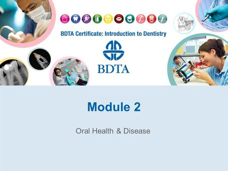 Module 2 Oral Health & Disease. Definitions Oral Health Prevention –Primary –Secondary –Tertiary.