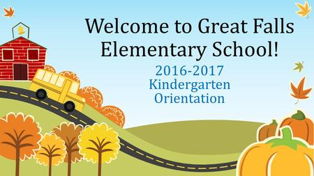 Welcome to Great Falls Elementary School!