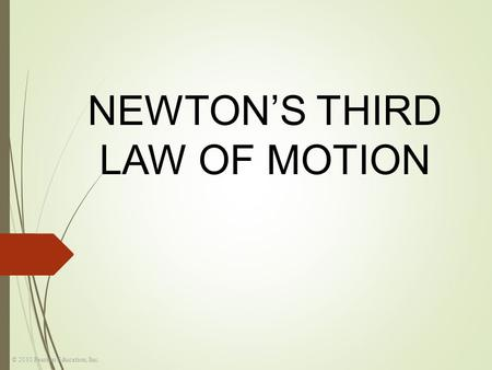 © 2010 Pearson Education, Inc. NEWTON'S THIRD LAW OF MOTION.