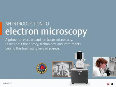 © 2013 FEI. A BRIEF OVERVIEW OF MICROSCOPY Origins of microscopy Historical figures in microscopy Three basic classifications of microscopes Comparing.