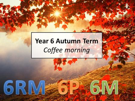 Year 6 Autumn Term Coffee morning. The Year 6 Team Miss Mander- Head of Year 6RM Ms Metcalfe- 6M Miss Penycate – 6P Mr Held – Assistant Headteacher Mrs.