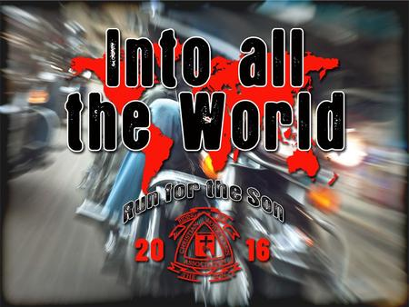 Changing the World, The ministry of the Christian Motorcyclists Association was founded out of a desire to reach out to others with the love of Jesus.