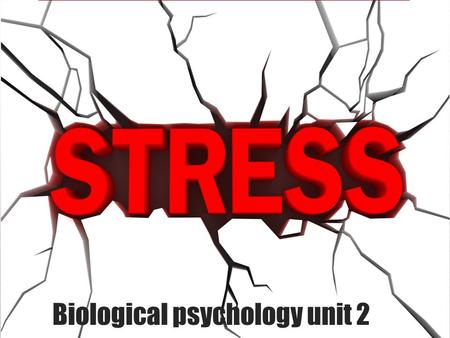 Biological psychology unit 2. Body's reaction to stress SAM- sympathetic adrenal medullary system- immediate response PAS- pituitary adrenal system- delayed.