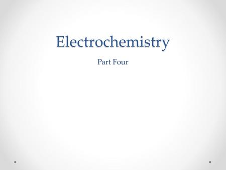 Electrochemistry Part Four. CHEMICAL CHANGE  ELECTRIC CURRENT To obtain a useful current, we separate the oxidizing and reducing agents so that electron.