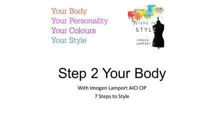 Step 2 Your Body With Imogen Lamport AICI CIP 7 Steps to Style.