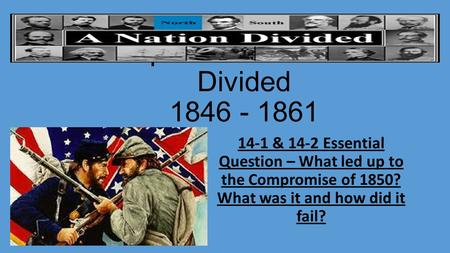 why the compromises from 1846 1861 failed The compromise of 1860 failed to stop the civil war between thenorthern and southern states this was because they could not agreeon the terms set forward.