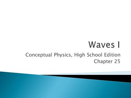 Conceptual Physics, High School Edition Chapter 25.