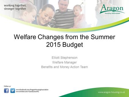 Welfare Changes from the Summer 2015 Budget Elliott Stephenson Welfare Manager Benefits and Money Action Team.