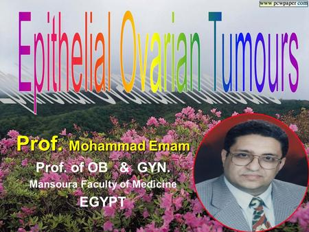 Prof. Mohammad Emam Prof. of OB & GYN. Mansoura Faculty of Medicine EGYPT.