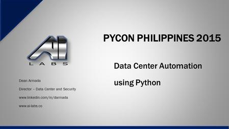 Data Center Automation using Python