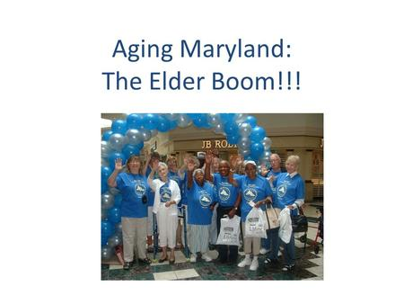 Aging Maryland: The Elder Boom!!!. Disease Risk Factors.
