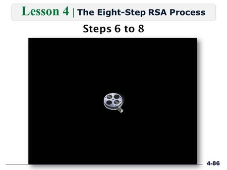 Steps 6 to 8 Lesson 4 | The Eight-Step RSA Process 4-86.