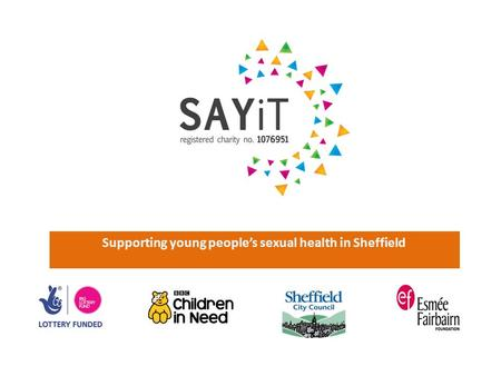Supporting young people's sexual health in Sheffield.