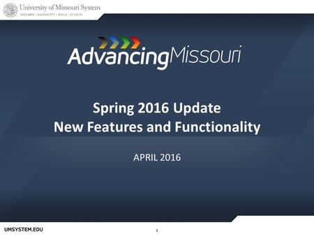 11 Spring 2016 Update New Features and Functionality APRIL 2016.