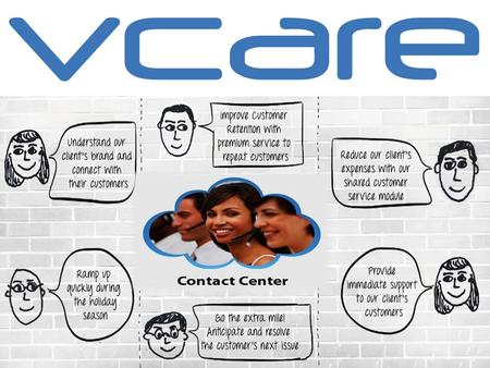 Vcare Technology being one of the prominent BPO service providers of India and U.S prides itself in providing a wide range of customer services to its.