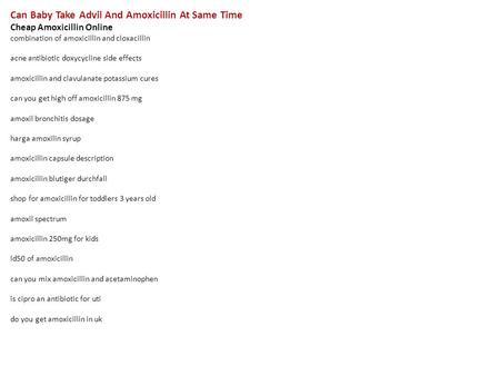 amoxicillin advil