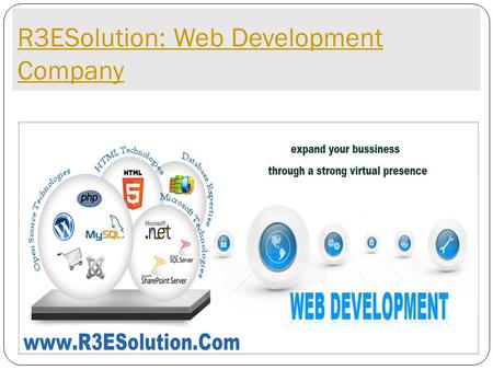 R3ESolution: Web Development Company. ABOUT US R3ESolution is your one stop platform for all web related needs. We understand that developing, hosting.